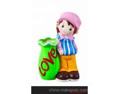 陶瓷彩绘,徐州市彩绘陶瓷DIY玩具仕女笔插系列,厂家批发