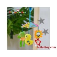 happymonkey婴儿玩具音乐旋转床挂床铃