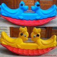 幼儿园室内跷跷板儿童摇马 双人翘翘板宝宝木塑料户外小玩具