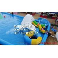 亚美玩具充气大滑梯 蹦蹦床 钢架水池水上乐园充气蹦蹦床充气滑梯