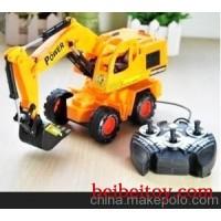 大地之神全功能线控挖土机(6825S)工程车模型玩具 男童玩具
