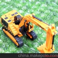 1:24合金挖掘机 可挖土 可勾机 合金工程车模型玩具凯迪威 原厂