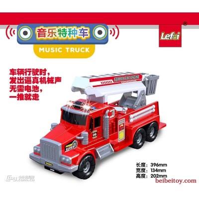 乐飞科教音乐惯性特种工程车-求援消防车9088