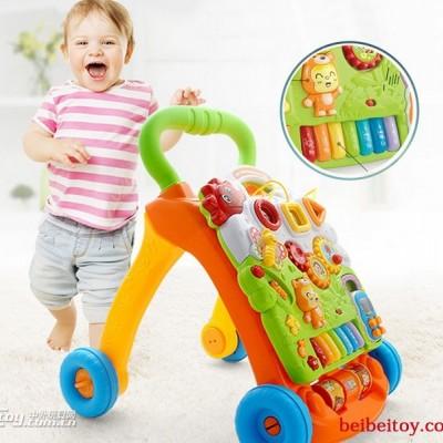 幼童可调适学步车配钢琴音乐声光功能益智几何认知图形