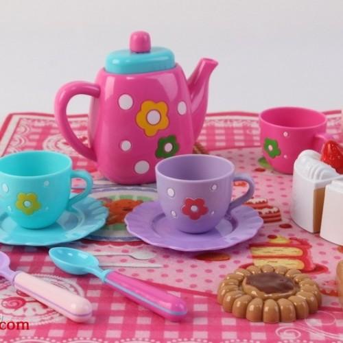 儿童玩具过家家野餐茶具套装点心手提盒