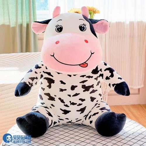 企业牛年吉祥物 毛绒玩具厂家奶牛玩偶公仔摆件 儿童娃娃礼物