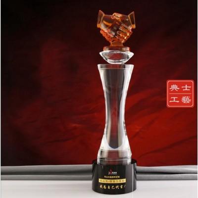 我为自己代言奖杯、西宁单位颁奖奖杯、年度优秀职工奖杯
