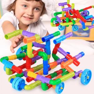 塑料拼插拼装水管道积木儿童玩具